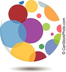 Circular Bubble Logo Concept - Vector Design of Circular...