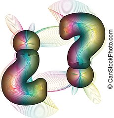 Abstract colorful Question Mark