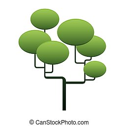 Vector tree and green space for text
