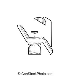Dental chair sketch icon. - Dental chair vector sketch icon...