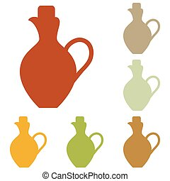 Amphora sign illustration Colorful autumn set of icons