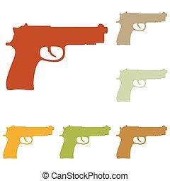 arma de fuego, señal, Ilustración,