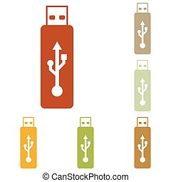 Vector USB flash drive sign