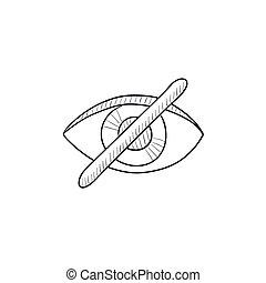 Invisible sketch icon. - Invisible vector sketch icon...