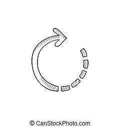 Refresh arrow sketch icon - Refresh arrow vector sketch icon...