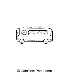 Bus sketch icon. - Bus vector sketch icon isolated on...