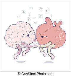 Pajama party - the outlined vector illustration of a brain...