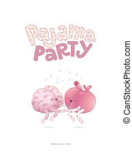 Pajama party poster - Pajama party - the vector illustrated...