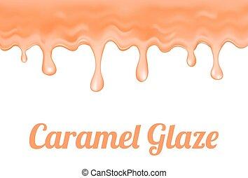 caramel glaze - a caramel glaze