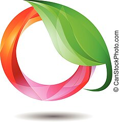 Glossy Environment Friendly - Vector Design of Glossy...