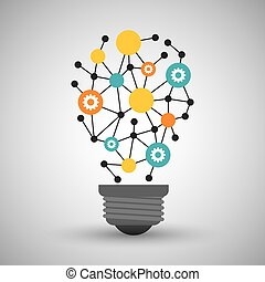 Innovate disign. Idea icon. Flat illustration , vector -...