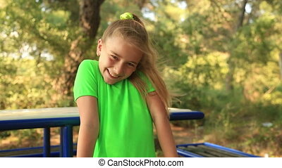Portrait of a smiling young girl - Portrait of a cute young...