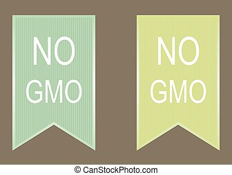 No gmo vector green - No gmo elements set vector green image...