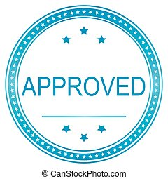Approved sticker, tag, label, sign, icon vector