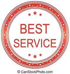 Best service. Vector image.