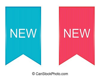 Sign New. Vector. - Sign New. Vector illustration in blue...
