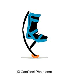 Vector Bocking boots Illustration. - Jumping boots isolated...
