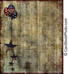 Patriotic Grunge Background