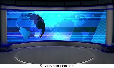 News TV Studio Set -27 - News TV Studio Set 27 - Virtual...