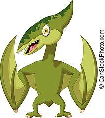 pterodactyl cartoon - vector illustration of pterodactyl...