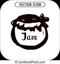 Bank jam icon. hand drawing, vector illustration