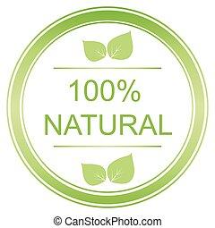 100 percent vector natural label