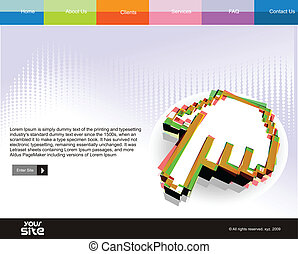 web site design - business web site design template, vector...
