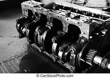 Crankshaft - Black and white image of the crankshaft