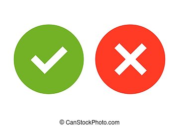 Tick and cross signs simple - Tick and cross signs. Green...