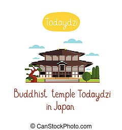 Landmarks concept Travel the world Vector - Buddhis temple...