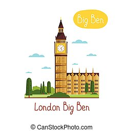 Landmarks concept. Travel the world. Vector. - London Big...