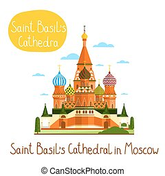 Landmarks concept. Travel the world. Vector. - Saint Basil's...
