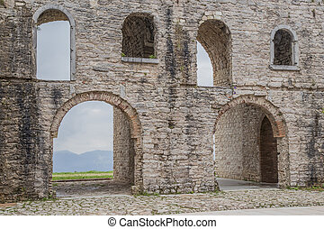 Ancient italian fort of World War I - Ancient ruins of a old...