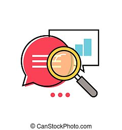 Data analytics vector icon, analyzing information statistic,...