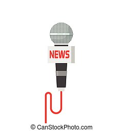 Microphone news vector illustration isolated on white