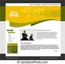 design template - abstract business web site design...