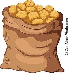 collection potato cartoon on the sa - vector illustration of...