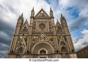 The Cathedral of Orvieto (Duomo di Orvieto), Umbria, Italy