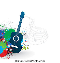 music theme with abstract rainbow color background, vector...