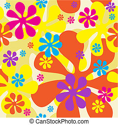Seamless Flowers Background can be repeated seamlessly as...