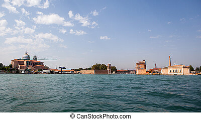Venice, view on grand canal and basilica - Venice, view of...