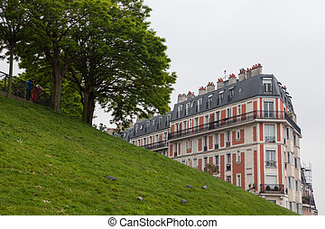 Picturesque house on the Montmartre hill Paris