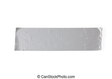 silver duct tape on white background