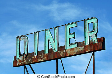 Abandoned roadside diner sign - A old Abandoned roadside...