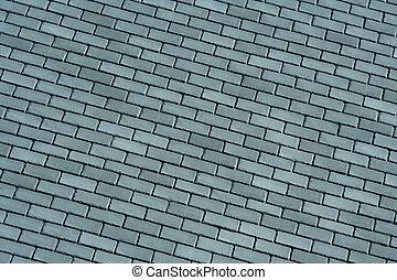 Slate roof shingles background - A Slate roof shingles...