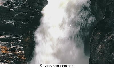 Waterfall in the Lava Fields, closeup