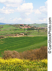 Italy. Val D\'Orcia valley. Tuscany landscape