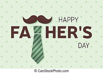 Happy Father's Day greeting card. Happy Father's Day poster.