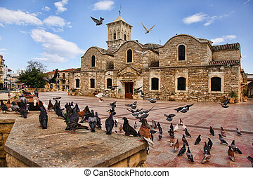 The Church of Saint Lazarus - Birds flying outside of the...