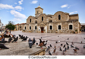 The Church of Saint Lazarus, Larnaca, Cyprus - Birds flying...